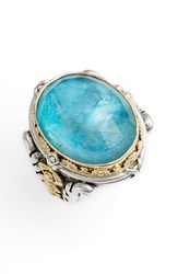 Konstantino Women's 'Iliada' Large Oval Semiprecious Stone Ring