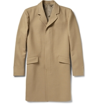 Theory Whyte Wool Overcoat Brown