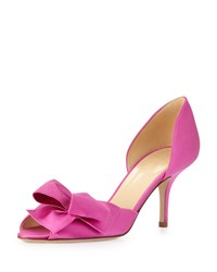 Kate Spade New York Sala Satin D'orsay Bow Pump Fuchsia Pink