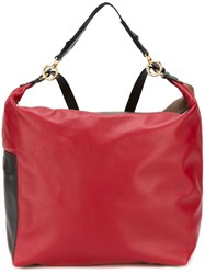 Marni Colour Block Convertible Backpack Red