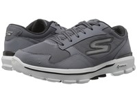 Skechers Go Walk 3 Creator Charcoal Black Men's Lace Up Casual Shoes