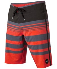 O'neill Men's Hyperfreak Heist Board Shorts Neon Red