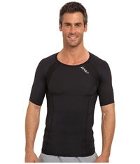 2Xu Compression S S Top Black Black Men's Short Sleeve Pullover