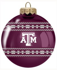 Memory Company Texas A And M Aggies Ugly Sweater Ball Ornament Maroon