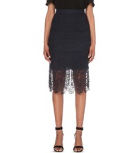 Whistles Ailsa Lace Skirt Navy