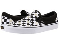 Vans Classic Slip On 50Th Black Gold Checker Skate Shoes White