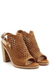 Rag And Bone Rag And Bone Perforated Suede Sandals Brown