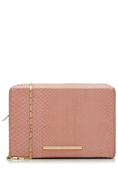 Roland Mouret Python Leather Shoulder Bag Rose