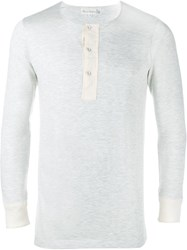 Merz B. Schwanen Long Sleeve Henley T Shirt Grey