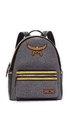 Mcm Loden Backpack Mono Grey
