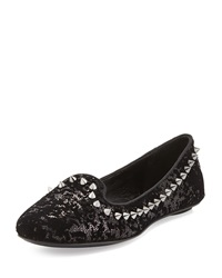Ash As If Sequin Spiked Flat Black