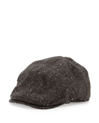 Ben Sherman Tweed Driver Hat Jet Black
