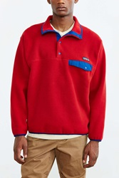 Patagonia Synchilla Snap T Fleece Pullover Jacket Red