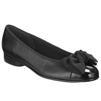 Gabor Amy Ballerina Leather Patent Pumps Black