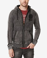 Buffalo David Bitton Men's Walsined Full Zip Hoodie Cannon