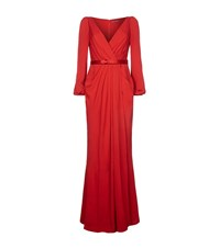 Alexander Mcqueen Wrap Draped Gown Female Red