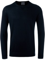 Laneus Crew Neck Jumper Blue