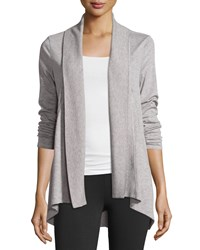 Marc New York Marc Ny Performance Slub Jersey Open Front Cardigan Light Gray Heather