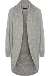 The Row Caro Draped Cashmere And Silk Blend Cardigan