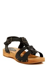 Sanita Olsie Low Flex Wood Sandal Black