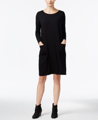Eileen Fisher Dolman Sleeve Pocketed Dress Black