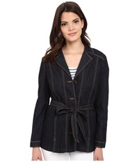 Nydj Deena Jacket Dark Enzyme Wash Women's Coat Black