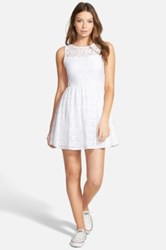 Painted Threads Lace Skater Dress Juniors White