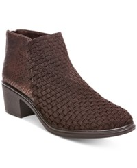Steve Madden Steven By Penga Woven Ankle Booties Women's Shoes Brown
