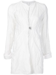 Simona Tagliaferri Creased Effect Coat White