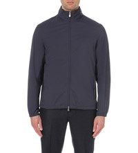 Brunello Cucinelli Drawstring Shell Jacket Navy