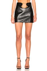 Anthony Vaccarello Central Piercing Mini Skirt In Black