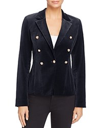 Aqua X Maddie And Tae Velvet Gold Button Blazer 100 Bloomingdale's Exclusive Navy