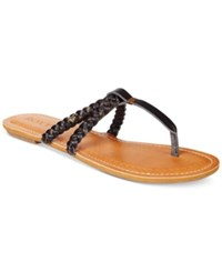 Roxy Giza Braided Thong Sandals Women's Shoes Black