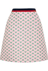 Gucci For Net A Porter Jacquard Mini Skirt Pastel Pink