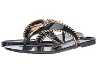 Jack Rogers Alana Jelly Midnight Gold Women's Sandals Black
