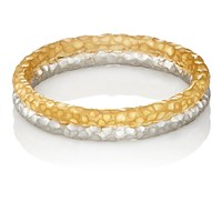 Malcolm Betts Women's Double Band Ring Gold