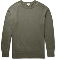Club Monaco Mercerised Cotton Sweater Green
