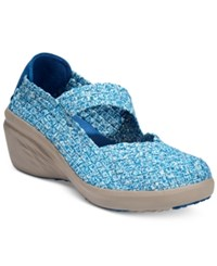 Bare Traps Kassie Mary Jane Wedges Women's Shoes Blue