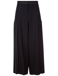Cedric Charlier Navy Pinstripe Pleated Side Trousers