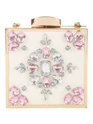 Jane Norman Embroidered Box Clutch Bag
