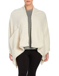 Lord And Taylor Plus Pouch Pocket Sherpa Wrap Natural
