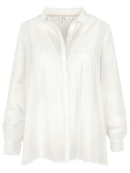 Fat Face Amelie Pintuck Blouse Ivory