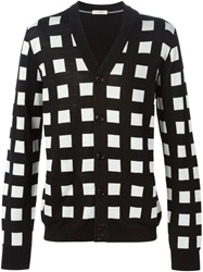 Paolo Pecora Checked Cardigan Black