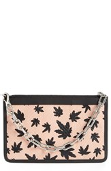Alexander Wang Leaf Print Genuine Snakeskin Leather Pouch