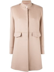 Giamba Concealed Fastening Coat Pink And Purple