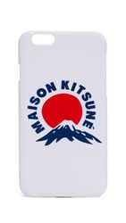 Maison Kitsune Mount Fuji Iphone 6 6S Case White