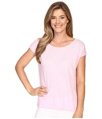Lilla P Flame Gauze Dolman Sleeve Boat Neck Pink Blossom Women's T Shirt Multi