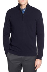 Men's Malo Cashmere Quarter Zip Sweater