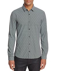 Hugo Ero Skull Check Slim Fit Button Down Shirt Black