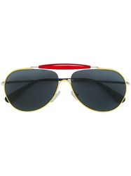 Prada Eyewear Aviator Sunglasses Yellow And Orange
